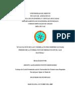 """""""Evaluación de las correlaciones empíricas para predecir la formación de hidratos en el gas natural"""" (UDO-2009)"""