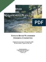 Tongue River Watershed Plan2005