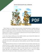 Parafrasis de Don Quijote de La Mancha