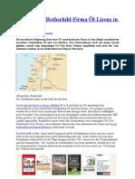 Israel erteilt Rothschild-Firma Öl-Lizenz in Golanhöhen