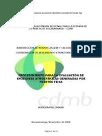 Procedimiento Para Evaluacion de Emisiones Atmosfericas