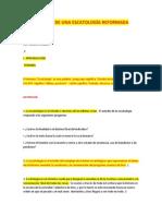 1.-RESUMEN DE UNA ESCATOLOGÍA REFORMADA