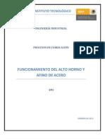 PROCESO DE PRODUCCIÓN DE ACEROO