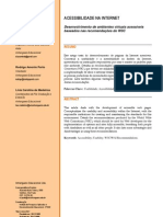 ACESSIBILIDADE NA INTERNET -  Desenvolvimento de ambientes virtuais acessíveis baseados nas recomendações do W3C