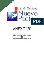 Reglamento Interno ANEXO B