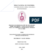 PROCESO DE HOMOLOGACIÓN DE ESTANDARES SOBRE SEGURIDAD Y SALUD OCUPACIONAL, PARA LAS EMPRESAS CONTRATISTAS MINERAS EN EL PERÚ.