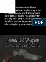 LAPD - Improvised Weapons and Other Officer Safety Concerns