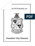 Founders Day Manual
