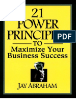 21 Power Principles to Maximize Your Business Success by Jay Abraham