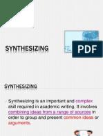 Ppslides Wk7 Synthesizing