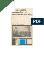 Los Conceptos Elementales Del Materialismo Historico - Marta Harnecker