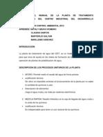 Resumen Del Manual de La Planta de Tratamiento Automatizada