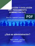 Introduccion y Evolucin Del Pensamiento Administrativo