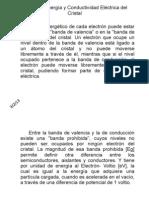 Banda de Energía y Conductividad Eléctrica del Cristal.pptx
