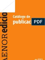 Catalogo Publicaciones AENOR Abril 2012
