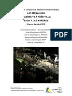 Memoria Campaña Las Mañangas, Villa - Llabres, y Buda - Las Xareras 2012