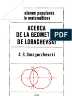 Acerca de La Geometria de Lobachevski