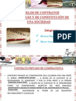 MODELOS DE CONTRATOS MERCANTILES Y DE CONSTITUCIÓN DE