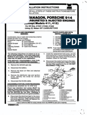 Weber 34 IDF Installation Guide | Carburetor | Throttle