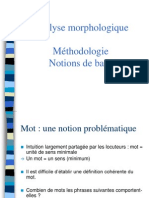 Analyse Morphologique 2