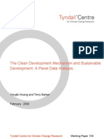 The Clean Development Mechanism and Sustainable Development