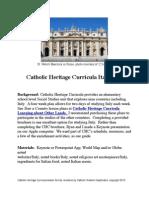 Catholic Heritage Curricula Social Studies Unit