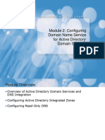 02 Configuring Domain Name Service for Active Directory Domain Services
