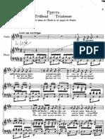 Tristesse Op10 No3 Voice Piano