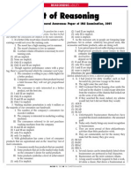 Test of Reasoning14