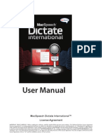 MacSpeech Dictate User Manual
