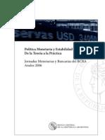 Politica Monetaria y Estabilidad Financiera.de La Teoria a La Practica