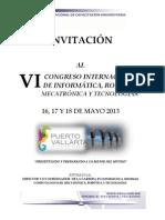 INVITACION AL VI CONGRESO DE INFORMATICA,  ROBÓTICA, MECATRÓNICA Y TECNOLOGIAS POR JK
