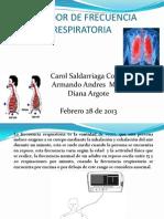 Medidor de Frecuencia Respiratoria