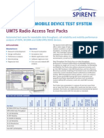 8100 MDTS UMTS Radio Access Performance Test Packs