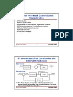 Feedback control system Characteristics