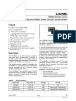 Accelerometer Manufacturer's Data