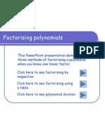 factorising cubics