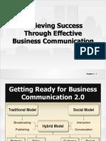 Achiving success Through Effective  Business Communication