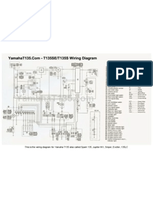 Yamaha T135 Wiring Diagram Pdf - A day with Wiring diagram on