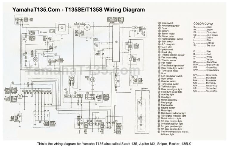 yamaha lc 135 wiring diagram yamahat135 wiring diagram  yamahat135 wiring diagram