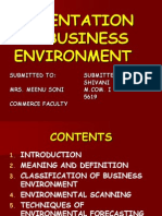 Presentation on Business Environment