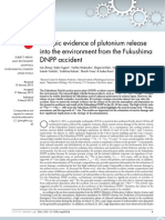 Isotopic evidence of plutonium release