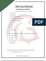 Quarterback Checklist