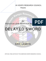Delayed Sword Analysis by Kevin Lamkin American Kenpo Research Council American-kenpo-legacy Com