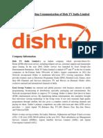 Integrated Marketing Communication of DishTv