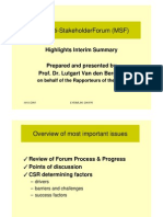 EU Multi-Stakeholder Forum