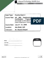 API 580 Questions Practice Exam 2