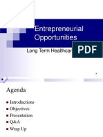 Entrepreneurial Opportunities Long Term Healthcare Industry