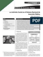 Inversion Social en El Sistema Nacional de Inversion Publica