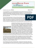 Shannon Brook Farm Newsletter 3-2-2013